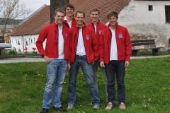 von Links nach Rechts: Bastian Martin, Mark Scholten, Lukas Fickert, Peter Scholten und Bernd Stadtmüller.