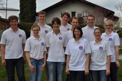 5 Damen und 5 Herren aus der Ortsgruppe Rottachtal traten beim Landeswettbewerb der Wasserwacht Bayern mit an.