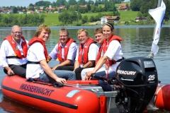 Segnung des neuen Rettungsboost am Rottachsee